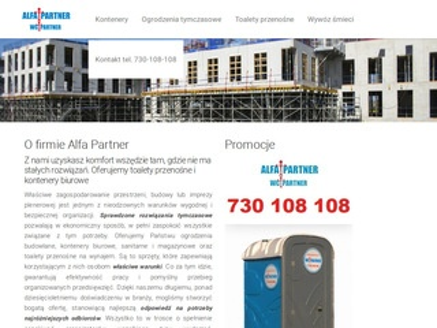 Alfapartner.pl kontenery budowlane magazynowe