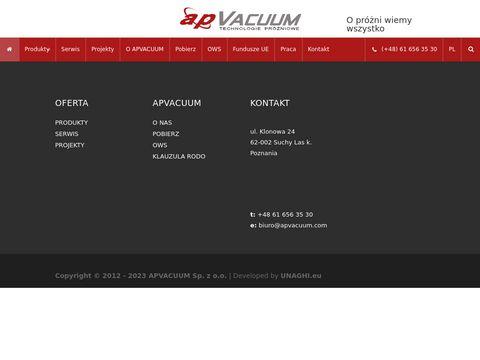 Apvacuum.com pompy próżniowe