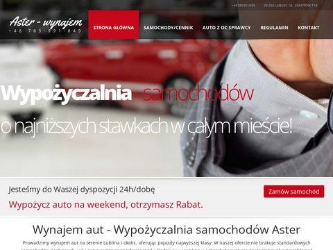 Aster-wynajem.pl samochodów Lublin