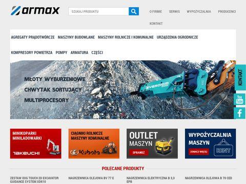 Armax.com.pl maszyny budowlane, pompy, armatura
