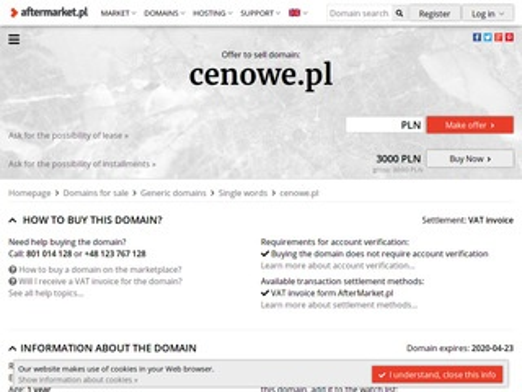Cenowe.pl - przeglądarka