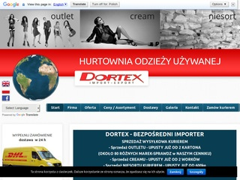 Dortex.pl hurtownia odzieży używanej Łódź
