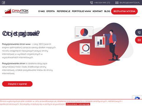 Damtox.pl pozycjonowanie Warszawa