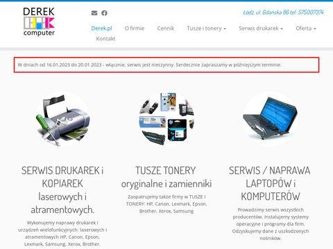Derek.pl sprzedaż i serwis drukarek