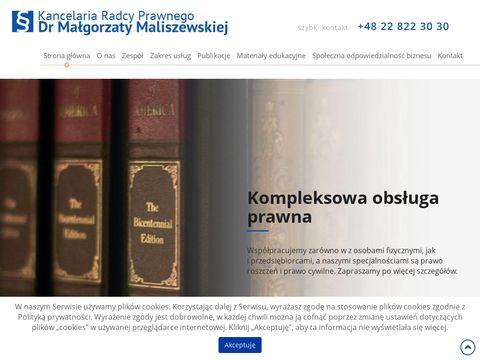 M. Maliszewska dochodzenie roszczeń Warszawa
