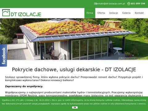 Dt-izolacje.com.pl usługi dekarskie