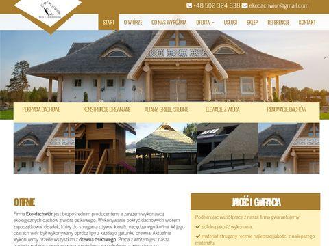 Eko-Dachwiór - pokrycia dachowe
