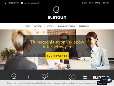 Elingua tłumaczenie stron internetowych