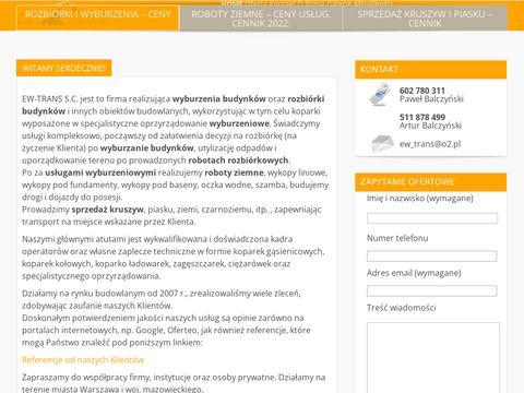 Ew-trans S.C. rozbiórki i wyburzenia budynków
