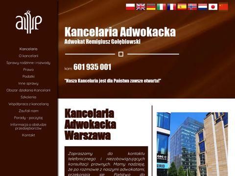 Golebiowski.pl kancelaria adwokacka Warszawa