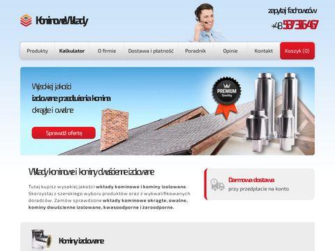 Kominowewklady.pl kominy stalowe