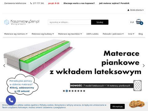 Kaszmirowysen.pl materace niestandardowe