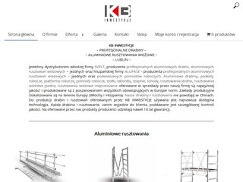 Kb-inwestycje.pl profesjonalne drabiny