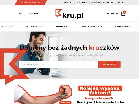 Kru.pl szybki hosting rejestracja domen