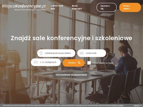 Miejscakonferencyjne.pl obiekty szkoleniowe