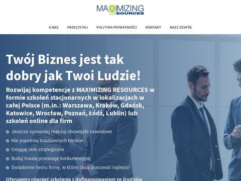 Maxres.pl szkolenia sprzedażowe Kraków