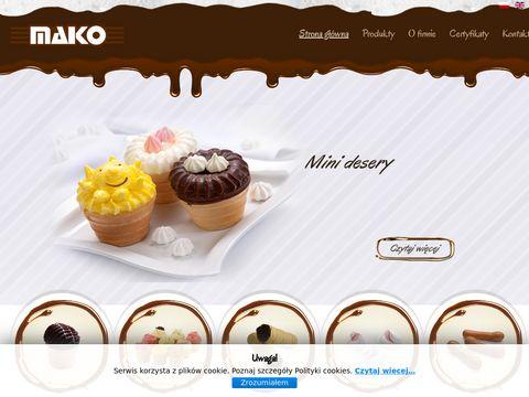 Makorogowo.pl ciepłe lody deser