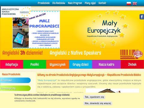 Malyeuropejczyk.pl przedszkole anglojęzyczne