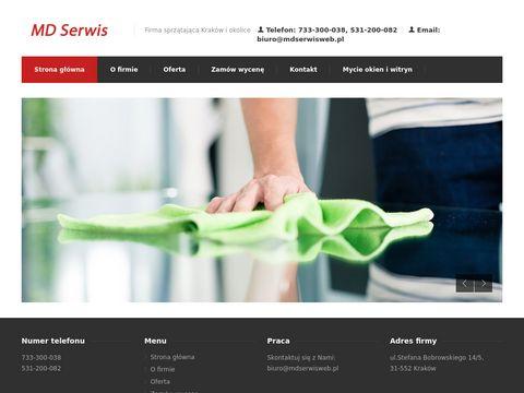 Mdserwisweb.pl firma sprzątająca z Krakowa
