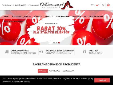 Odszewca.pl - buty damskie duże rozmiary