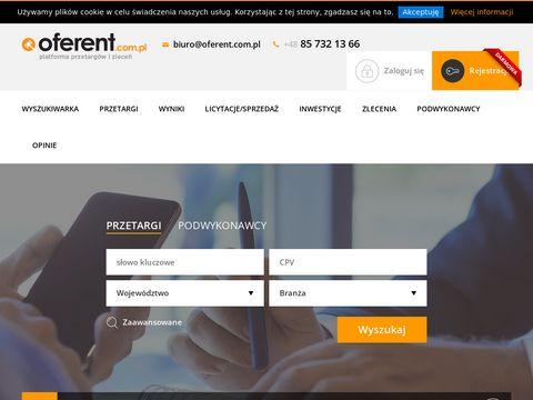 Oferent.com.pl - baza przetargów
