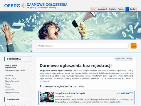 Ofero.pl przetargi i zlecenia budowlane transportowe