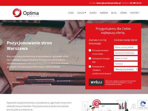 Optimamedia.pl pozycjonowanie stron www