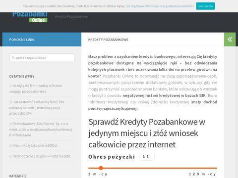 Pozabanki.com.pl blog nowe pożyczki pozabankowe