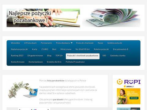 Pozyczkabez.pl porównanie chwilówek