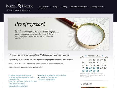 Paszek-paszek.pl - notariusz Katowice