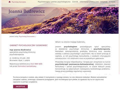 Psychologpraktyka.pl psychoterapeuta Sosnowiec