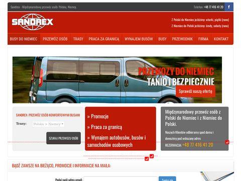 Przewozysandrex.pl transport osób