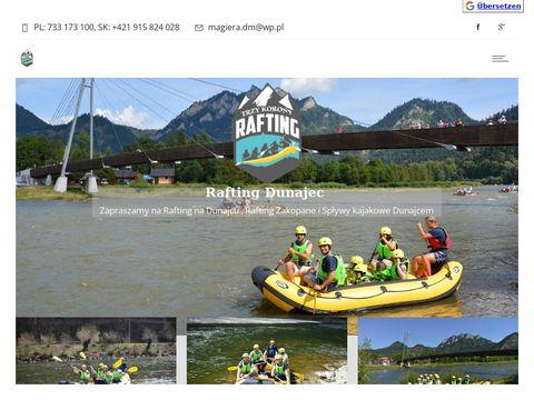 Raftingpieniny.pl wypożyczalnia sprzętu sportowego