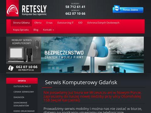 Retesly.pl serwis komputerowy Gdańsk