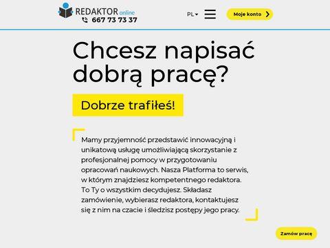 Redaktor-online.pl Pisanie prac