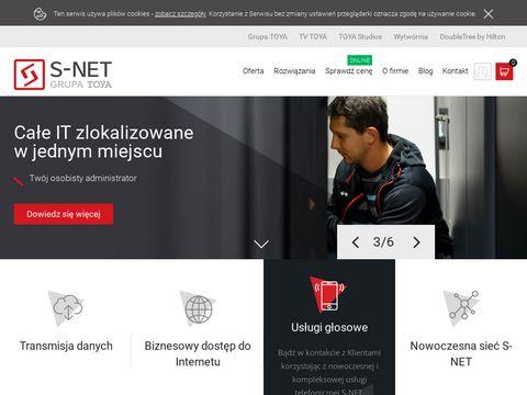 s-net.pl internet światłowodowy