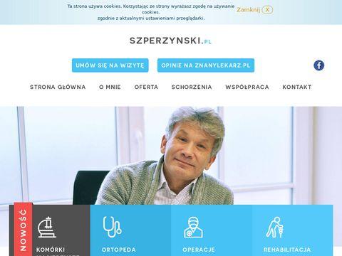 Szperzynski.pl traumatolog ortopeda