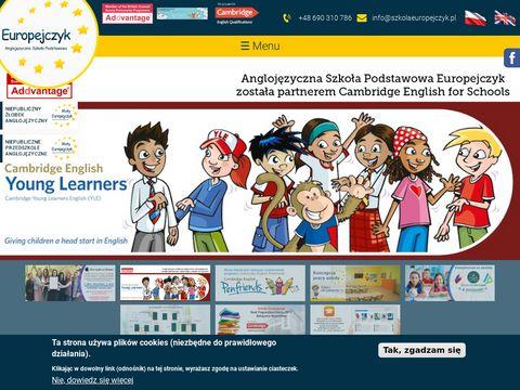 Szkolaeuropejczyk.pl podstawowa anglojęzyczna