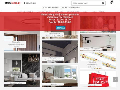Strefalamp.pl salon z oświetleniem