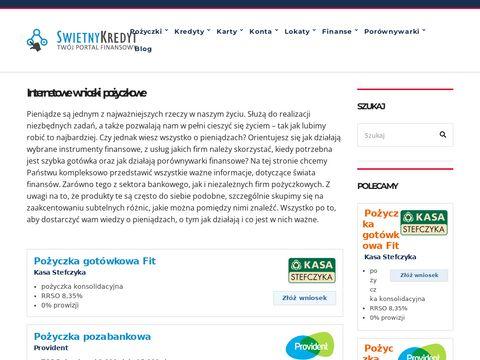Swietnykredyt.pl pożyczki hipoteczne