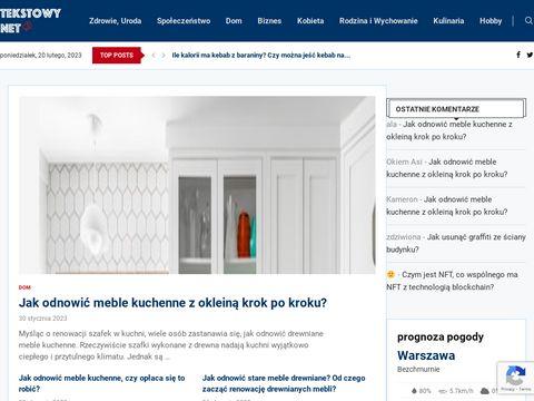 Tekstowy.net - dekalog zdrowego żywienia