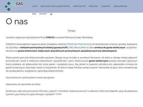 Tech-gas.pl gazy laboratoryjne