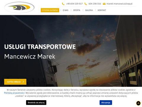 Transport-mancewicz.pl tranzyt towarów