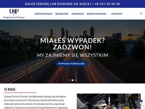 Uniqueservicepartner.pl likwidator szkód