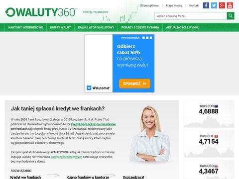 Waluty360.pl - porównywarka kantorów internetowych