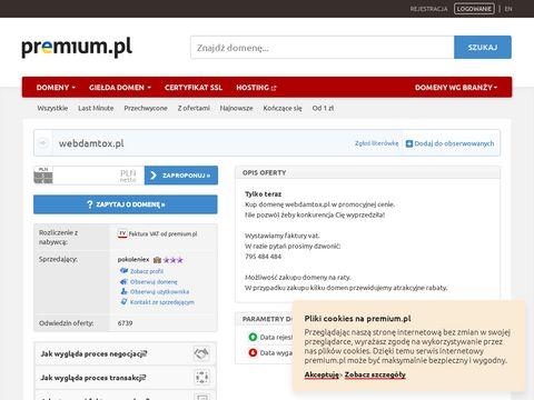 Webdamtox.pl - tworzenie stron Warszawa