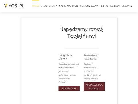 Yosi.pl specjalista w zakresie wdrażania ERP