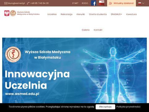 Wsmed.edu.pl jedyne takie studia medyczne