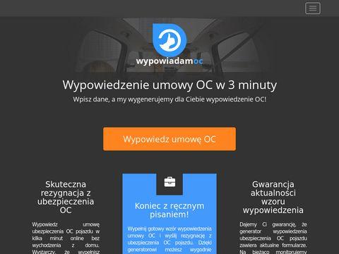Wypowiadamy-oc.pl - wzór umowy