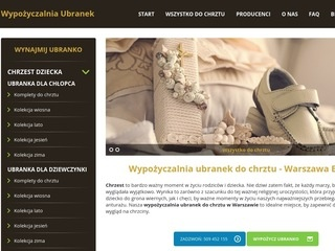 Wypozyczalniaubranek.pl ciuszki do chrztu tanio